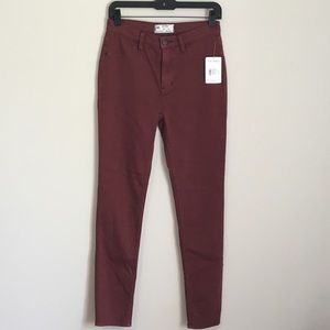 NWT Free People red mocha jegging Jeans 28